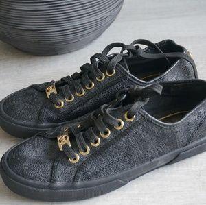 Michael Kors Shoes - MICHEAL KORS Black Logo Sneakers [size 6.5]
